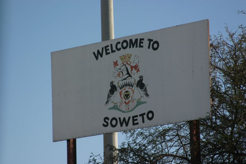A sign welcoming people to Soweto