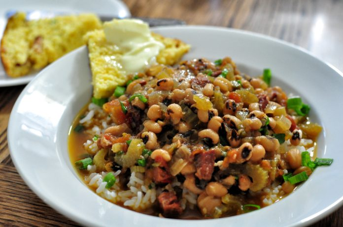 African American history of black-eyed peas and a Hoppin' John recipe