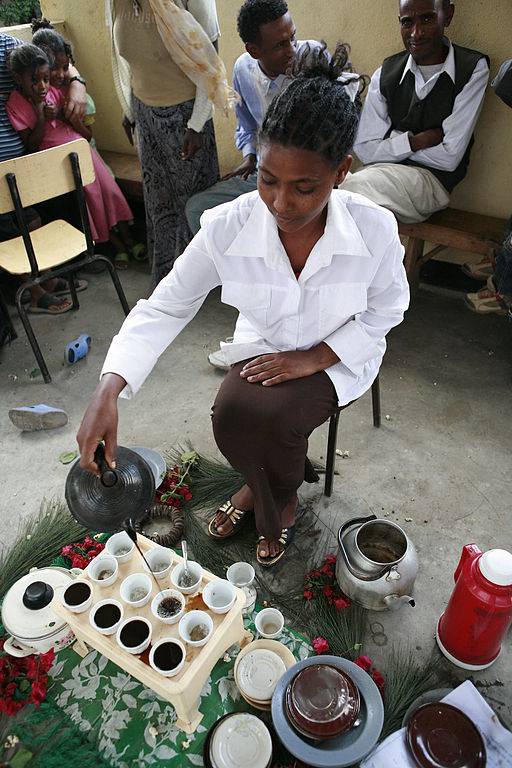 Ethiopian coffee ceremony showcases the long history of coffee in East Africa from at least the 14th century